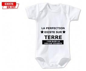 Le perfection existe J'en suis la preuve vivante: Body bébé-su7.fr