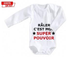 Râler c'est mon super pouvoir: Body bébé-su7.fr