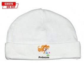 Chien + Prénom: Bonnet bébé-su7.fr