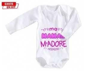 Ma maman m'adore (fille): Body bébé-su7.fr