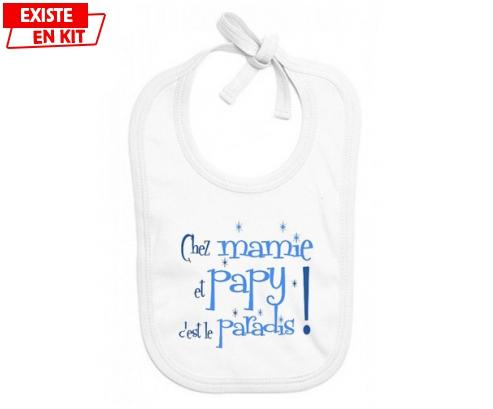 Chez mamie et papy c'est le paradis style1: Bavoir bébé-su7.fr