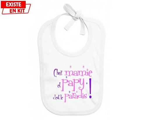 Chez mamie et papy c'est le paradis style2: Bavoir bébé-su7.fr