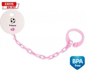 Ballon foot + prénom: Attache-sucette-su7.fr