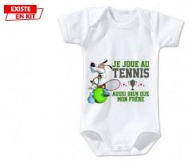 Je joue au tennis aussi bien que mon frère: Body bébé-su7.fr