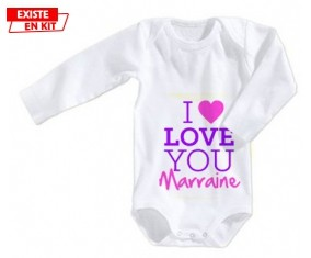 I love you marraine style2: Body bébé-su7.fr