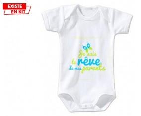 Je suis le rêve de mes parents style2: Body bébé-su7.fr