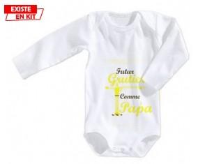 Futur grutier comme papa: Body bébé-su7.fr