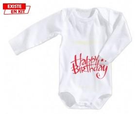 Happy birthday style2: Body bébé-su7.fr