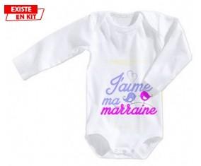 J'aime ma marraine style3: Body bébé-su7.fr