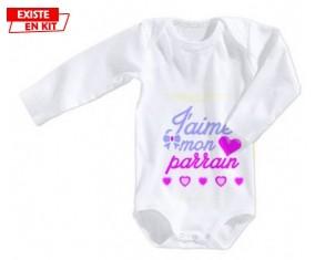 J'aime mon parrain style3: Body bébé-su7.fr