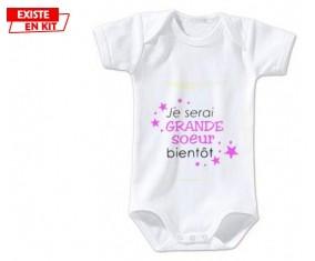 Bientôt je serai grande soeur: Body bébé-su7.fr