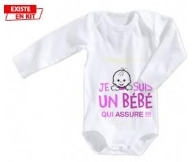 Je suis un bébé qui assure style1: Body bébé-su7.fr