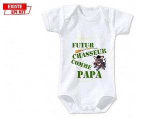 Futur chasseur comme papa: Body bébé-su7.fr