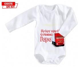 Futur routier comme papa: Body bébé-su7.fr
