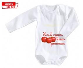 Haut comme 3 pommes: Body bébé-su7.fr