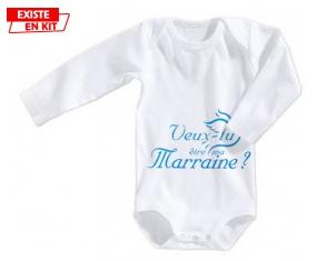 Veux-tu être ma marraine? Style3: Body bébé-su7.fr