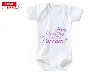 Veux-tu être mon parrain? Style3: Body bébé-su7.fr