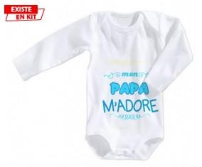 Mon papa m'adore (garcon): Body bébé-su7.fr