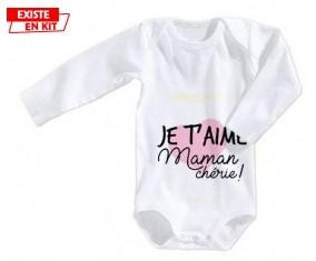 Je t'aime maman chérie style 2: Body bébé-su7.fr