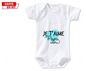 Je t'aime papa chéri style2: Body bébé-su7.fr