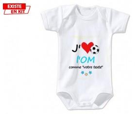 Bavoir personnalisé J aime l om + prénom  Bavoir bébé c2e1ecdbf92