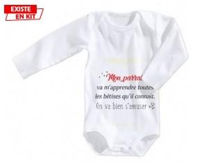 Mon parrain va m'apprendre toutes les bêtises: Body bébé-su7.fr