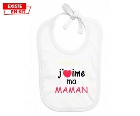 J'aime ma maman: Bavoir bébé-su7.fr