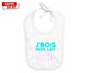 Je bois mon lait à la source style2: Bavoir bébé-su7.fr