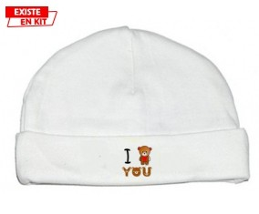 I love you ours: Bonnet bébé-su7.fr