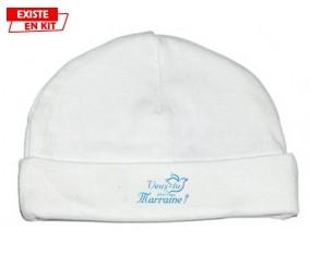 Veux-tu être ma marraine? Style3: Bonnet bébé-su7.fr