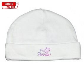 Veux-tu être mon parrain? Style3: Bonnet bébé-su7.fr