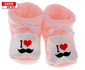 I love moustache style1: Chausson bébé-su7.fr
