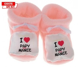 I love papy et mamie: Chausson bébé-su7.fr
