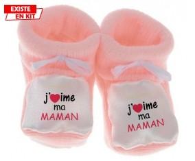 J'aime ma maman: Chausson bébé-su7.fr