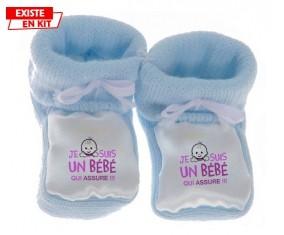Je suis un bébé qui assure style1: Chausson bébé-su7.fr