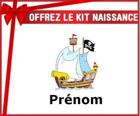 Kit naissance: Bateau pirate + prénom-su7.fr