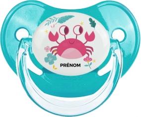 Crabe + prénom : Sucette Physiologique personnalisée