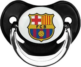 FC Barcelone : Sucette Noir classique embout physiologique
