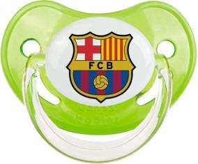 FC Barcelone : Sucette Vert classique embout physiologique