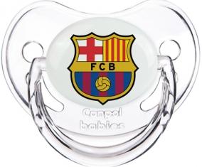 FC Barcelone : Sucette Transparent classique embout physiologique