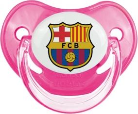 FC Barcelone : Sucette Rose classique embout physiologique