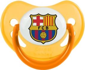 FC Barcelone : Sucette Jaune phosphorescente embout physiologique