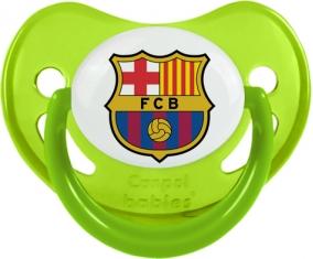 FC Barcelone : Sucette Vert phosphorescente embout physiologique