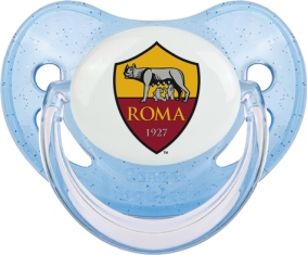 As Roma : Sucette Bleue à paillette embout physiologique