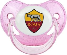 As Roma : Sucette Rose à paillette embout physiologique
