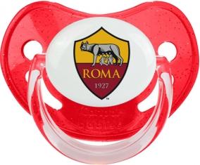 As Roma : Sucette Rouge à paillette embout physiologique