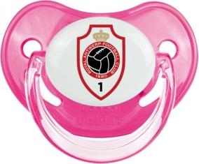Royal Antwerp FC : Sucette Rose classique embout physiologique
