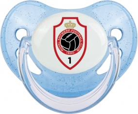 Royal Antwerp FC : Sucette Bleue à paillette embout physiologique