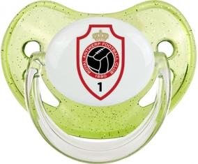 Royal Antwerp FC : Sucette Vert à paillette embout physiologique