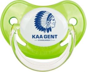 KAA Gent : Sucette Vert classique embout physiologique